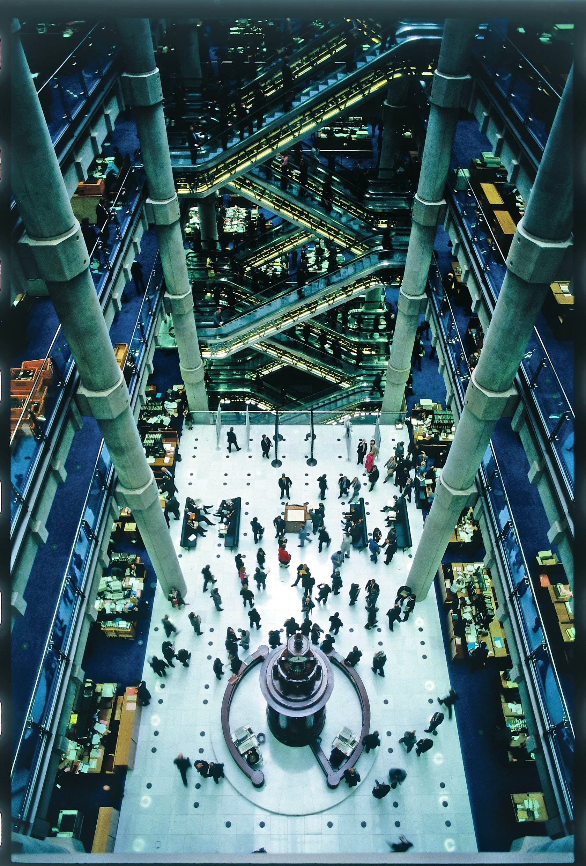 The atrium at Lloyds of London, Richard Rogers Partnership (1978–86)