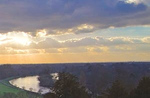 The view from the Richmond Hill Hotel today