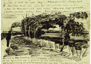 (29 and 30 July 1883), Vincent van Gogh. Sketch in his letter no.369 to Theo van Gogh
