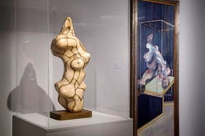 'Francis Bacon / Henry Moore: Flesh and Bone', installation shot