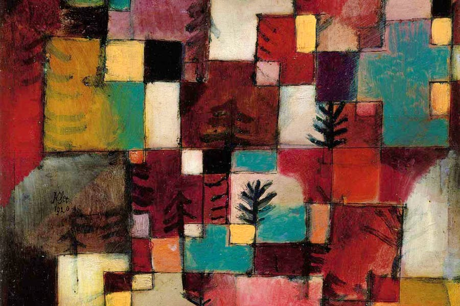 Redgreen And Violet Yellow Rhythms Detail 1920 Paul Klee Image The Metropolitan Museum Of Art Source Resource Scala Photo Archives