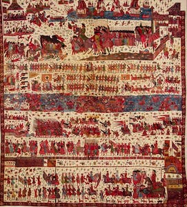 Hanging Depicting A European Conflict in South India, Probably the Siege of Pondicherry 1760–1, (after 1761), India (Coromandel Coast), for the English market