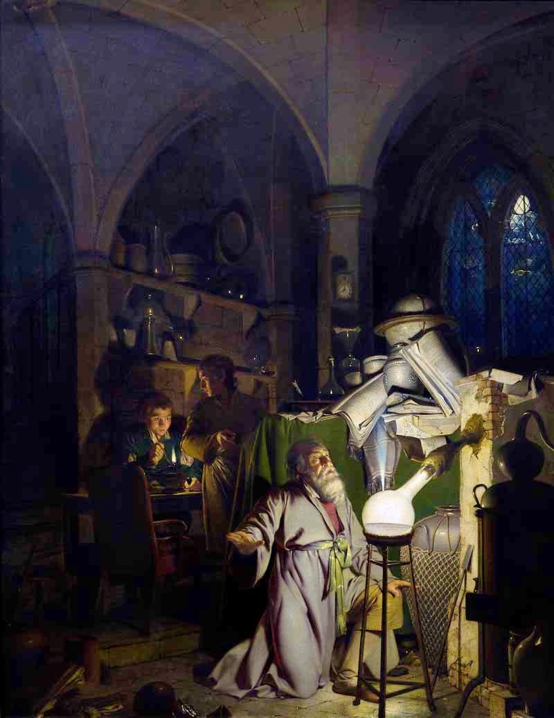 (exhibited 1771, reworked and dated 1795), Joseph Wright.
