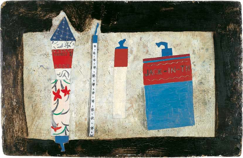 Ben Nicholson, 1929, fireworks, oil on board