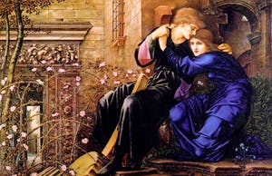 'Love among the Ruins' (1894) Edward Burne-Jones. National Trust Collections