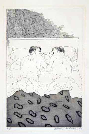 from Illustrations for Fourteen Poems from C.P. Cavafy (1966–7), David Hockney