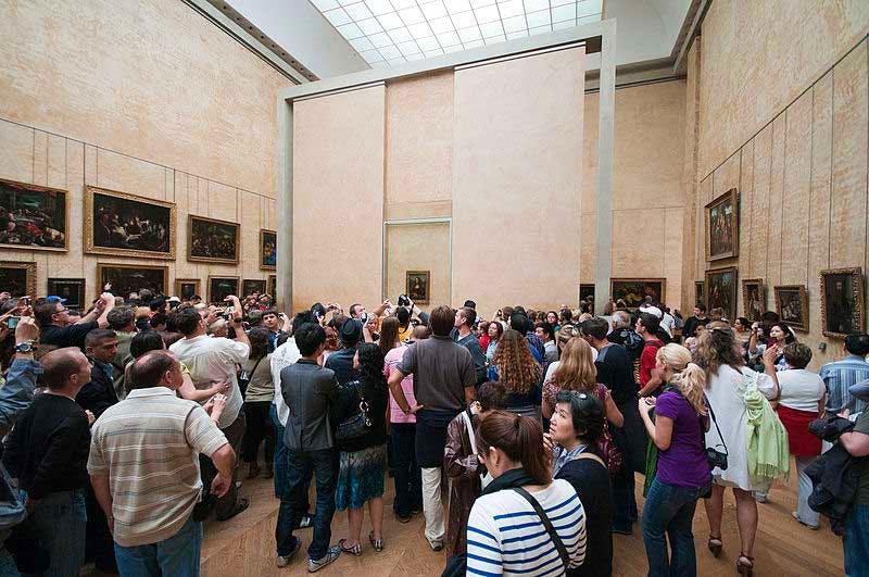 Crowds at the Louvre: visitor numbers have increased dramatically in recent years