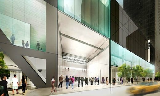 Rendering of the planned MoMA extension, based on the design by Diller Scofidio + Renfro