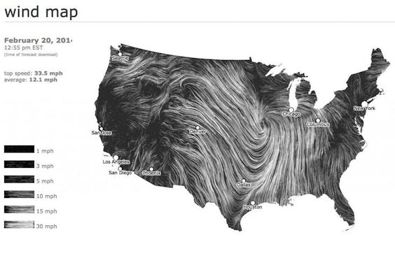 Wind map (screenshot)