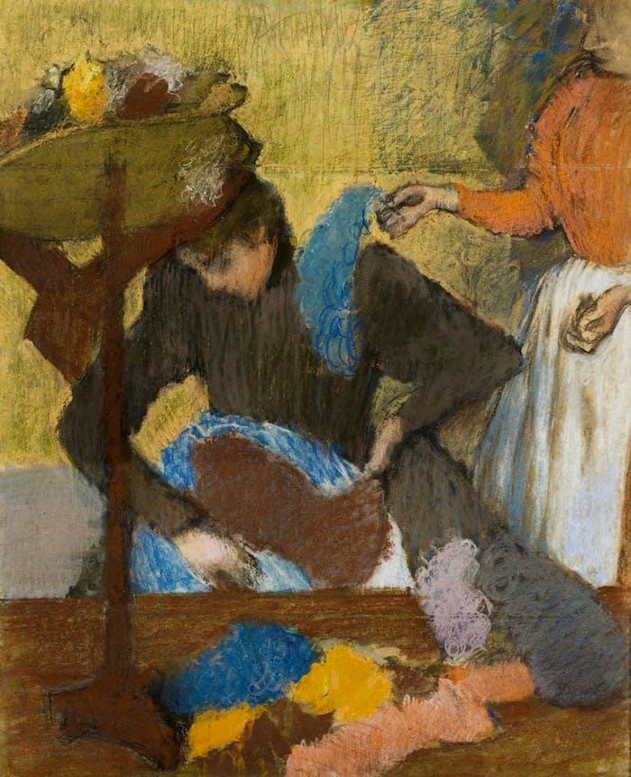 'Chez la modiste' (1905–10), Edgar Degas. © Musée d'Orsay, Paris