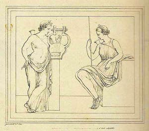 Guiseppe Abbate's drawing of the fresco.