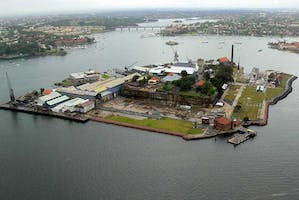 Cockatoo Island, one of the the Biennale of Sydney venues