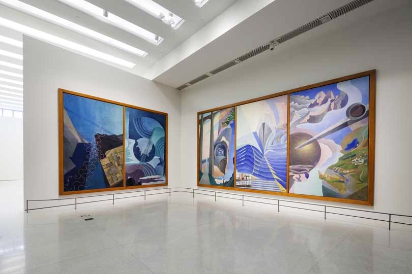 Installation view: 'Italian Futurism, 1909–1944: Reconstructing the Universe', Solomon R. Guggenheim Museum, New York, February 21–September 1, 2014