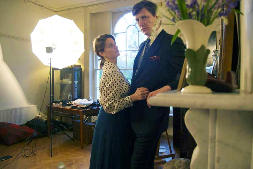 Mr. & Mrs. Philip Cath in their studio London
