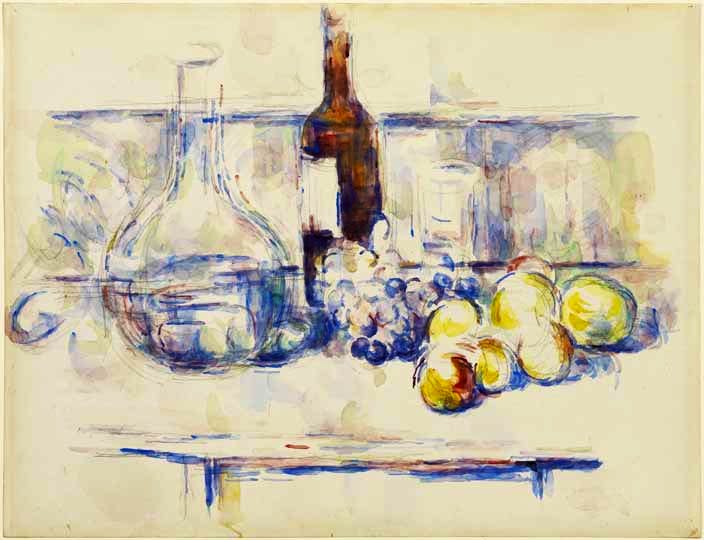'Still Life with Carafe, Bottle, and Fruit' (1906), Paul Cézanne © The Henry and Rose Pearlman Collection