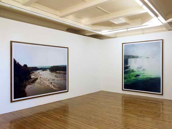 Installation view, Andreas Gursky, 'Early Landscapes', Sprüth Magers London, 15 April–21 June, 2014.