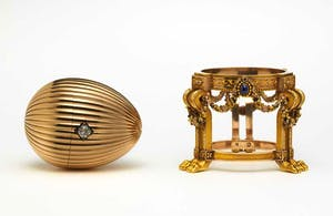 The Third Imperial Fabergé Egg and its stand