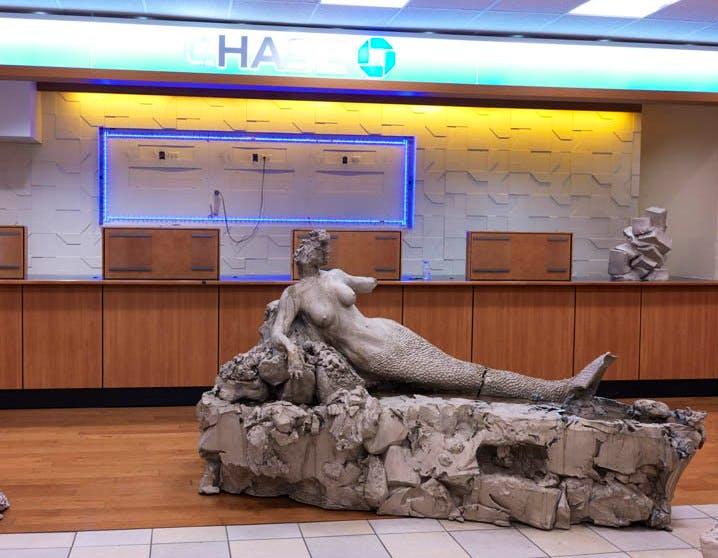 'mermaid / pig / bro w/hat (installation view, 104 Delancey Street, New York), Urs Fischer