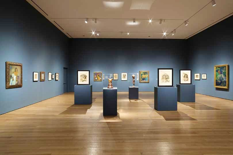 Installation view of 'Gauguin: Metamorphoses' at The Museum of Modern Art, New York (8 March–8 June, 2014)