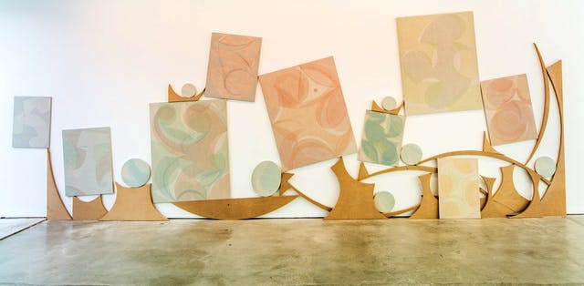'Drying Time' (installation view; 2014), Yelena Popova