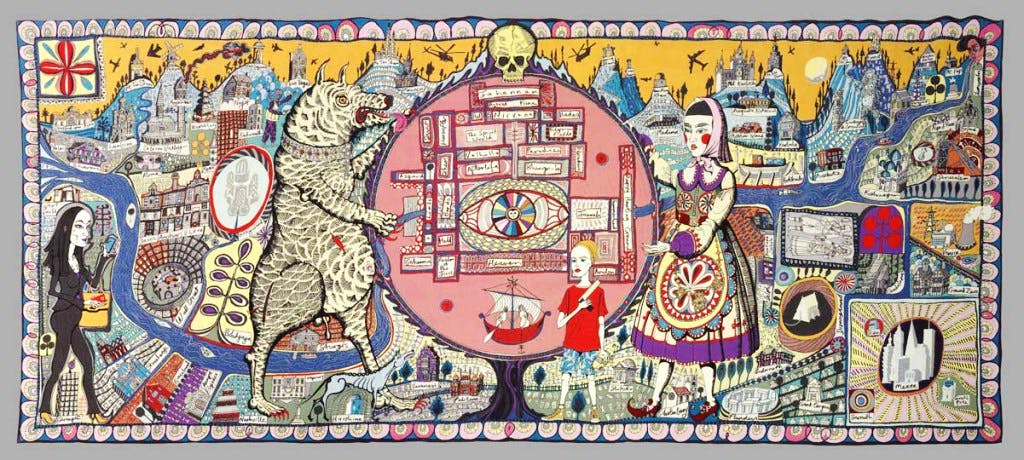 'Map of Truth and Beliefs' (2011), Grayson Perry © Grayson Perry, Paragon Press and Victoria Miro, London