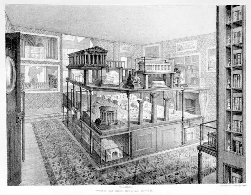 Engraving of Soane's Model Room (c. 1835)