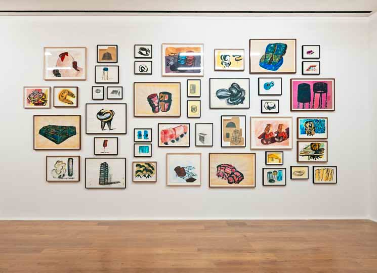Installation view, 'Phyllida Barlow. Fifty Years of Drawings', Hauser & Wirth, London, England, 2014