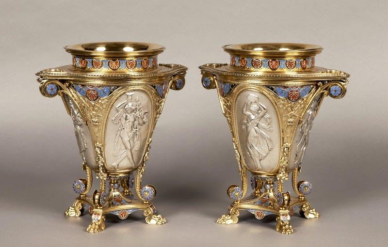 A pair of wine coolers, c. 1862, Elkington & Co. Butchoff Antiques, London