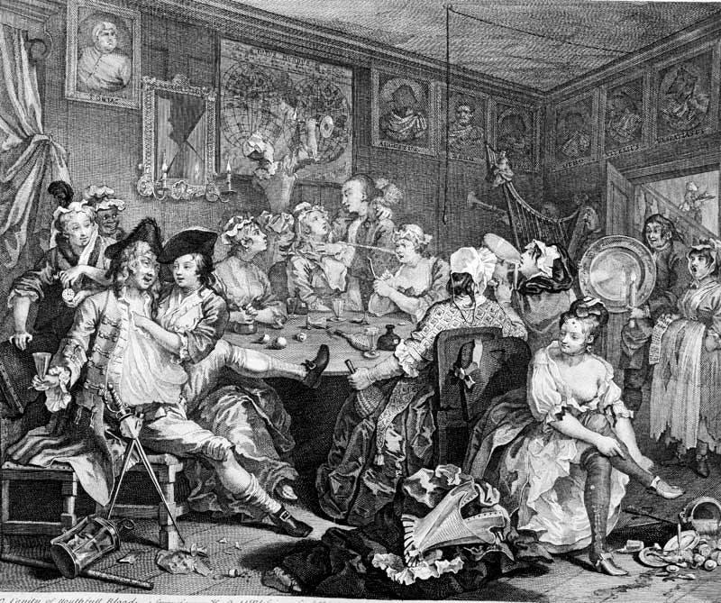 from 'A Rake's Progress' (1735), William Hogarth