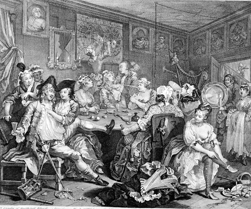 from 'A Rake's Progress' (1735), William Hogarth
