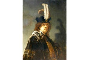 The original selfie? 'Self-portrait in a Feathered Hat' (1635), Rembrandt van Rijn, at Buckland Abbey (National Trust)