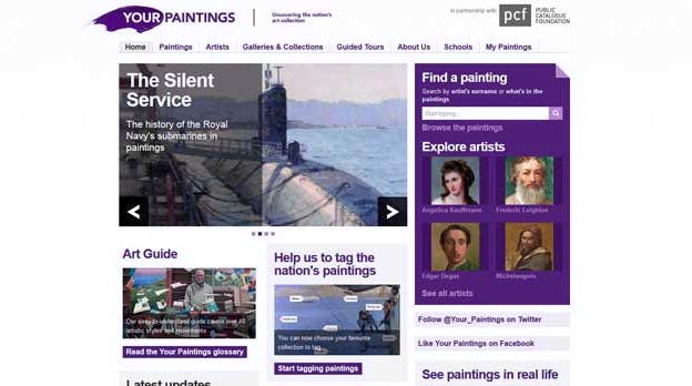 Your Paintings homepage