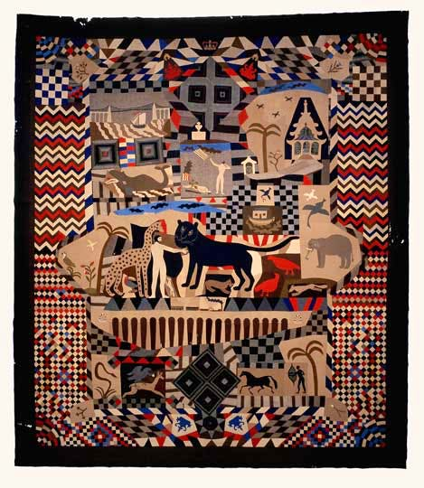 'Patchwork Bedcover' (1842-52) James Williams, Wrexham, St Fagans: National History Museum