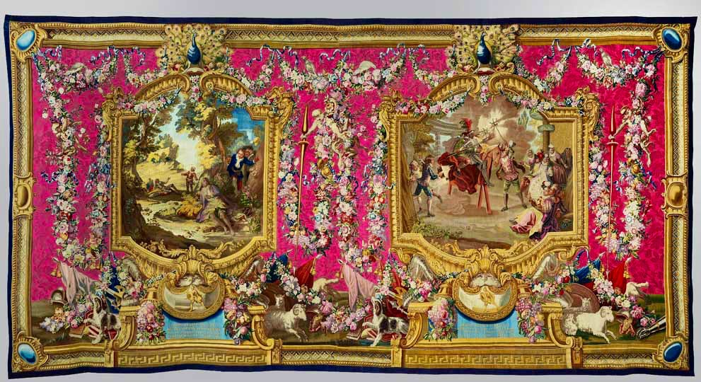 after Charles Coypel, from Don Quixote, woven in the workshop of Jean Audran and Pierre-François Cozette
