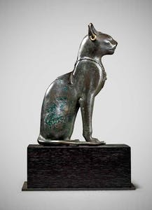 Egyptian bronze seated cat, Late Dynastic Period (25th–31st Dynasty, 715–332 BC). Rupert Wace Ancient Art