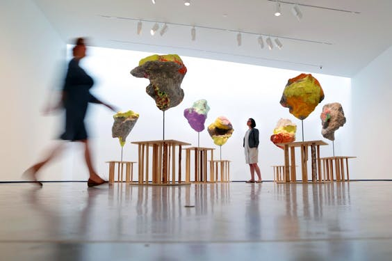 (2010), Franz West. Installation view, 'Franz West: Where is my Eight?' at The Hepworth Wakefield 2014.