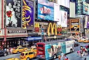 NYC Transit Advertising: Double Decker Super Side, for Art Everywhere (Vector Media)
