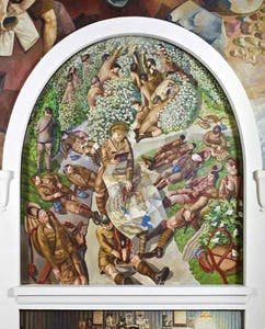Stanley Spencer, at the Sandham Memorial Chapel