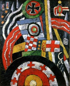 'Abstraction (Military Symbols) (1914–15), Marsden Hartley. Toledo Museum of Art