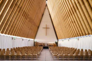 Cardboard Cathedral (2013), Christchurch, New Zealand. Photo by Stephen Goodenough