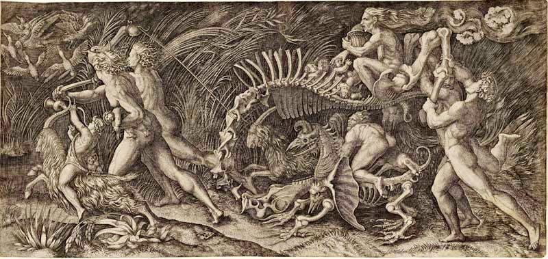 'The Carcass (The Witches Procession)' (1520–1527), Agostino Musi