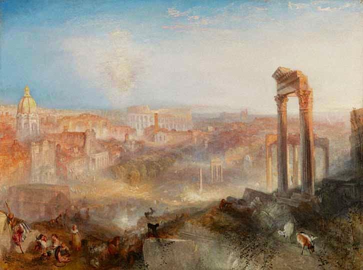 'Modern Rome - Campo Vaccino' (1839), JMW Turner. Image courtesy of Tate