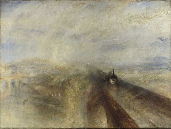 'Rain, Steam, and Speed – The Great Western Railway' (1844), JMW Turner. Image courtesy of Tate