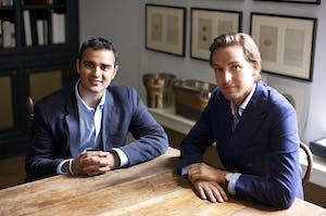 Aditya Julka and Alexander Gilkes of online auction house Paddle8.