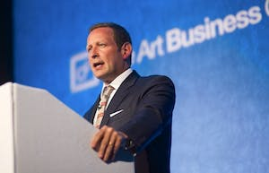 Ed Vaizey speaking at the inaugural Art Business Conference, London.