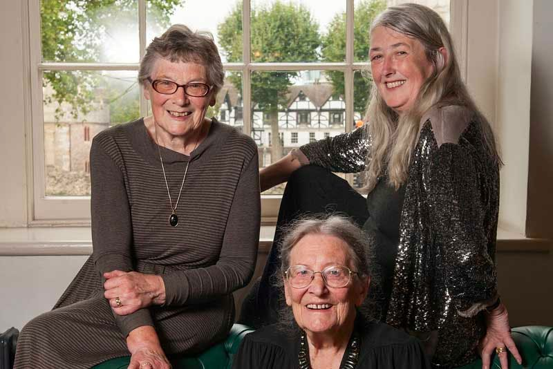 The birthday girls: Pat Easterling (80), Joyce Reynolds (95) and Mary Beard (60).
