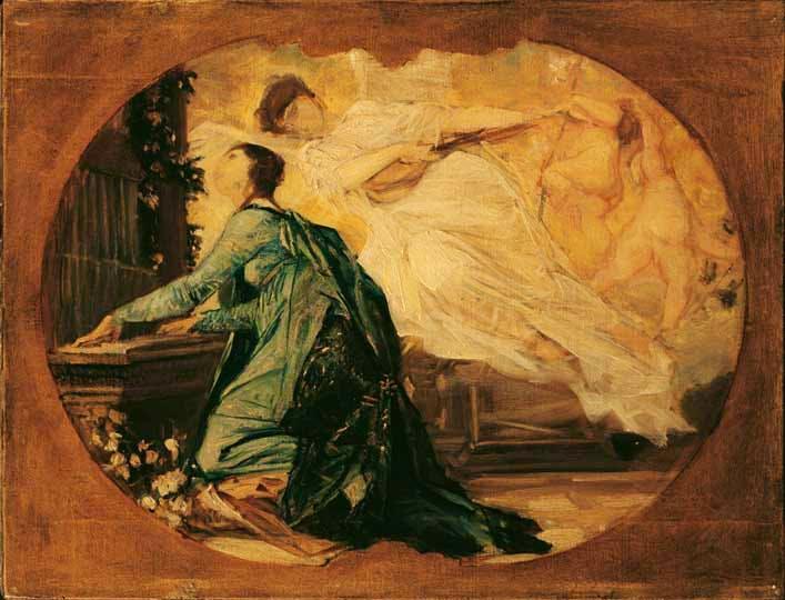 'St Cecilia' (1885), Gustav Klimt. Photo: Belvedere, Vienna