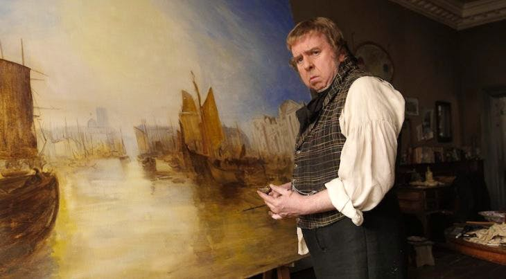 Timothy Spall as J.M.W. Turner in Mike Leigh's biopic of the artist, 'Mr. Turner' (2014), Courtesy Entertainment One