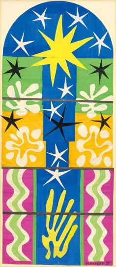 (maquette for stained glass window; 1952), Henri Matisse