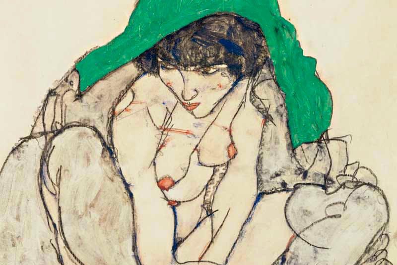 (detail; 1914), Egon Schiele.